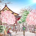 ipadで描いた風景画 @上野公園