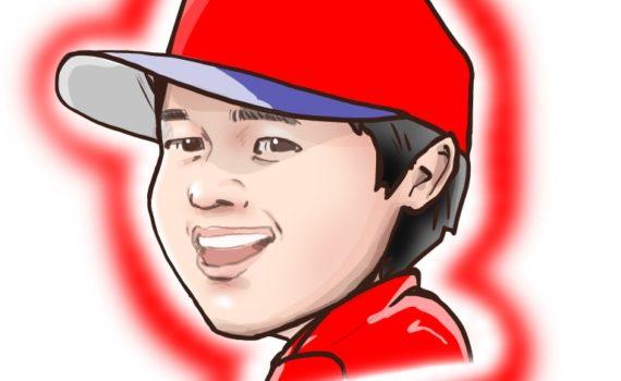 似顔絵,iPadPro,大谷翔平