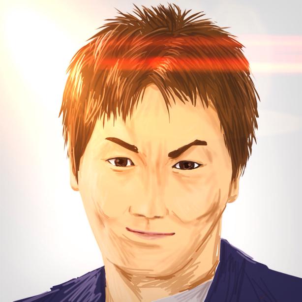 狩野英孝,似顔絵,ipadで描いた