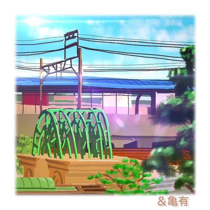 ipad,風景画,亀有