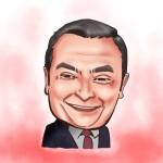 iPad 似顔絵 カルロスゴーン Carlos Ghosn