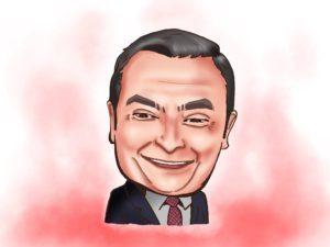iPadPro 似顔絵 カルロスゴーン Carlos Ghosn