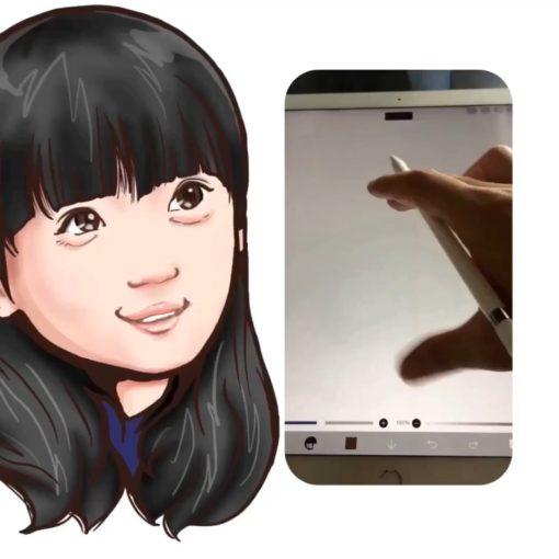 芦田愛菜 似顔絵 iPadPro