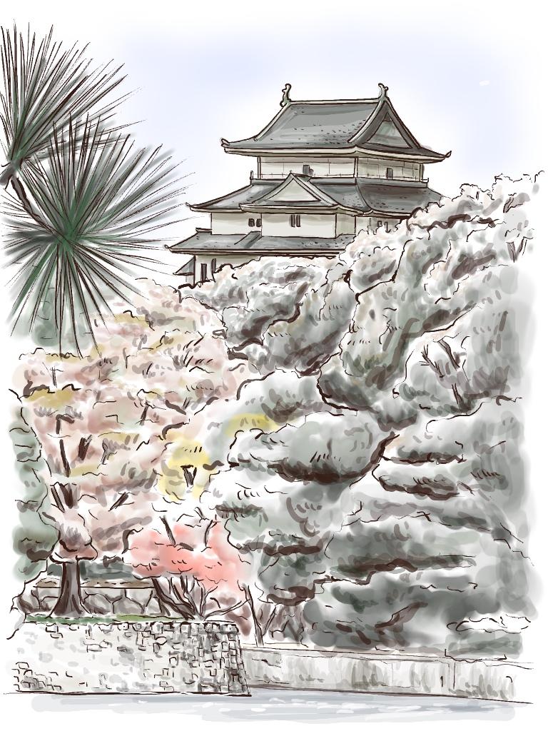 iPad 風景画 和歌山城