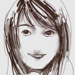 iPadで描いた似顔絵 有村架純さん