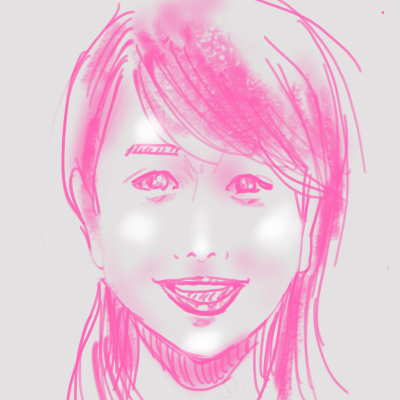iPadで描いた似顔絵 加藤綾子