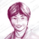 ipadで描いた人物画