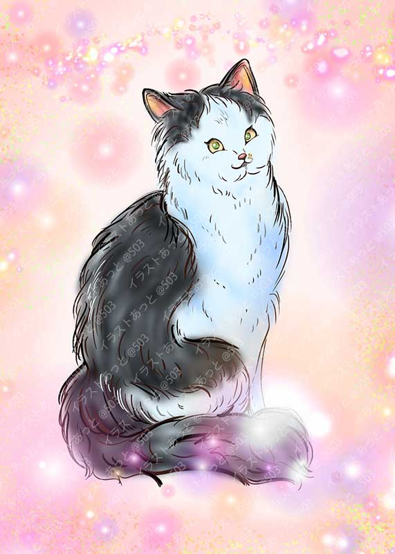 猫,似顔絵,ipad